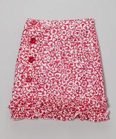 Look at this #zulilyfind! Red & White Ruffle Skirt - Girls by Willoughby #zulilyfinds