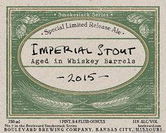 mybeerbuzz.com - Bringing Good Beers & Good People Together...: Boulevard Smokestack Series - Whiskey Barrel Imper...
