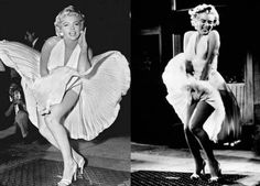 The white cocktail frock flowing in the air has been an iconic fashion style of Marilyn Monroe. The famous white dress worn by Monroe in this scene is still wanted by the teenagers for their prom parties. It's become one of the most iconic images of our times.