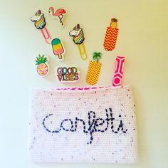 "Alex from Vienna auf Instagram: ""we need more confetti in our life 🎉 #crochet #crocheting #crochetlove #crochetaddict #crochetastherapy #craftastherapy #crochetgirlgang…"" Handmade Clutch, Crochet Clutch, Girl Gang, We Need, Vienna, Confetti, Etsy Store, Crocheting, Unicorn"