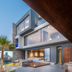 Huge modern villa with sea views on Amwaj Islands Bahrain – CAANdesign - Modern Architecture Placard Design, Interior Designers In Hyderabad, Glass House Design, Modern Villa Design, Luxury Penthouse, Patio Interior, Modern Mansion, Home Fashion, Style Fashion
