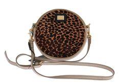 Blue Leather Brown Leopard Fur GLAM Bag – Zetabrands