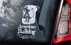 American Bulldog Bone Sticker L059 inch dog decal