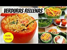 Verduras rellenas: 2 recetas (Opción VEGANA incluida) - YouTube
