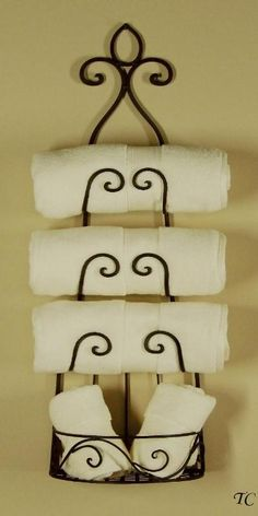 iron towel and wine rack | WROUGHT IRON Wall WINE RACK Tuscan TOWEL HOLDER
