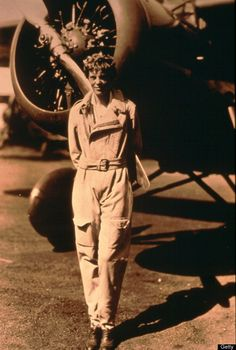 A Woman Named Amelia Rose Earhart Just Took Off On A Flight Around The Globe. Flying is an Art!!!