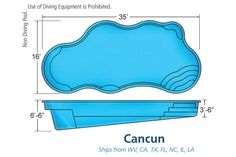 Viking Pools | Cancun -Come see us at 2640 Quality Court Virginia Beach VA 23454 or Give us a call at (757) 463-0600. www.thepoolguyz.com