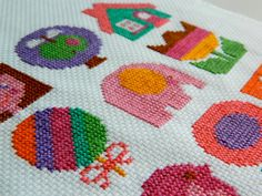 Original Retro Cross Stitch PDF Pattern by alice apple - Motif Patterns for Girls. £3.50, via Etsy.