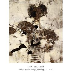 Fred Otnes Collage Paintings - Matteo