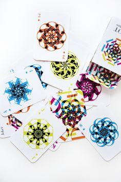 didot playing cards by Tatiana Lara, via Behance
