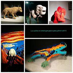 The art of the brick #art #bricks #dog #dinosaur #kiss #scream #drac #Lego #instalego #legogram