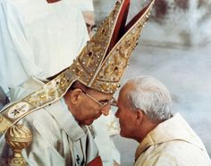 Pope John Paul, and Archbishop Karol Wojtyla.just weeks later, Archbishop Wojtyla would be known as John Paul II. Papa Pio Xi, Pope Of Rome, Papa Juan Pablo Ii, Pope Leo Xiii, Pope John Paul Ii, Paul 2, Catholic Pictures, Religion Catolica, Blessed Mother