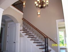 Staircase traditional staircase; trim along stairs