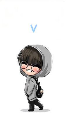 Cute Bear Drawings, Kpop Drawings, V Chibi, Anime Chibi, Foto Bts, Bts Photo, Bts Bg, Bts Pictures, Photos