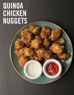 Turn the classic dinner your kids know and love into something extra healthy. Quinoa adds nutritious grains to the protein-rich nuggets and provides a nice crunch! This Quinoa Chicken Nuggets recipe is finally a meal the whole family can enjoy!