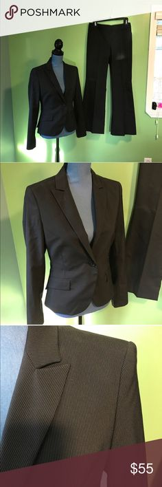 "Express Design Studio Business Suit In excellent condition! No signs of wear! Suit jacket is labeled size 6, pants measure 14.5"" across Express Jackets & Coats Blazers"