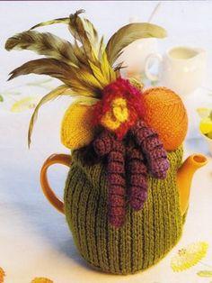 Carmen Miranda inspired tea cosy! would be easier to crochet
