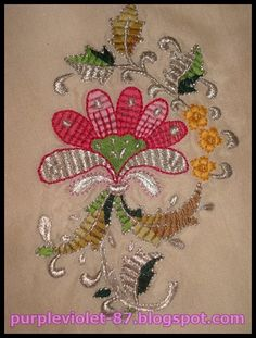 Turk work embroidery...