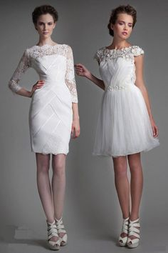 #The Perfect Short Wedding Dresses