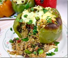 Southwestern Quinoa Stuffed Bell Peppers - sounds delicious!