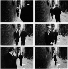 Duane Michals - Chance meeting. I have selected this sequence of images as part of my primary research as I particularly like the candid nature of them. This is enhanced by the black and white filter which creates an atmosphere which questions the location and the candid meeting of the two strangers.