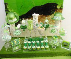 Una preciosa mesa para una fiesta San Patricio / An amazing dessert table for a St. Patrick's Day party