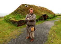 Ancient Scandinavians/Vikings were avid builders of green-roofed homes. The three reconstructed sod-topped longhouses that sit on the remains of a 1,000-year-old Norse colony at L'Anse aux Meadows in north Newfoundland were built to exemplify the sustainable architecture that the Vikings knew about centuries ago. The grass-topped homes almost seem to disappear into the grassy landscape.