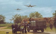 Luftwaffe servicemen participating in what looks like a drill.