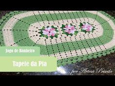 Jogo de Banheiro Flor Catavento - Tapete da Pia - Crochê - PAP 1/3 - YouTube