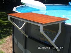 Having a pool sounds awesome especially if you are working with the best backyard pool landscaping ideas there is. How you design a proper backyard with a pool matters. Pool Bar, Oberirdischer Pool, Pvc Pool, Diy Swimming Pool, Intex Pool, Pool Side Bar, Intex Above Ground Pools, Above Ground Pool Landscaping, Backyard Pool Landscaping