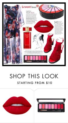 """""""Match Your Reds"""" by amra-sarajlic ❤ liked on Polyvore featuring Lime Crime, Estée Lauder and GE"""