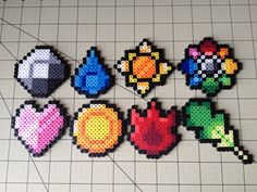 Pokemon Bead Sprite Set - Kanto Badges