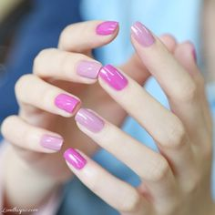 Pink ombre nail purple cute nails purple nails lavender nails ombre pink ombre violet nails
