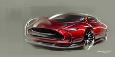 Muscle car concept sketch / Follow my MOTO sketches board!
