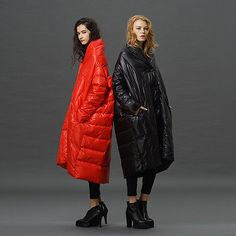 England Women Cocoon Style Loose Down Coat Mantle Cloak Long Trench Jacket Parks
