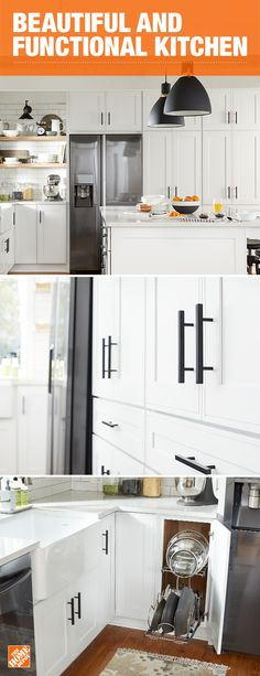 Transform your kitchen while adding beauty, storage and functionality. Organize your pots, pans, and lids, while storing cookware out of sight until needed. Create a timeless backdrop with custom cabinets for a kitchen that you'll love for years to come. Click to learn more about KraftMaid's Kitchen Innovations and add function to the heart of your home.
