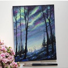 Join us Fri, March 24 for this fun and easy painting. Create some art and create some memories! Join us at Painting with a Twist – Avon! ©Painting with a Twist. Galaxy Painting, Galaxy Art, Painting Inspiration, Art Inspo, Acrylic Art, Beautiful Paintings, Magical Paintings, Art Pictures, Painting & Drawing
