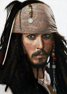 Dibujo Hiperrealista Jack Sparrow