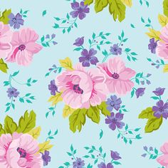 Country Garden Blue Spring Promise Blend by vintagekatiejean, $9.50