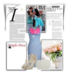 """""""Simple-dress 1"""" by almir-sahdan ❤ liked on Polyvore featuring Jimmy Choo and simpledress"""