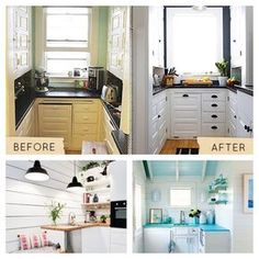 Como pintar azulejos antes y despues de reforma cocina - Reformar la cocina sin obras ...