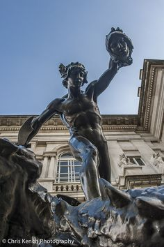 Perseus holding the Medusa's head. The Rescue of Andromeda by Henry Charles Fehr, Tate Britain, London