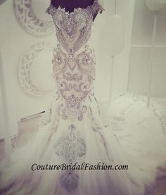 Couture  Swarovski crystals train wedding от CoutureBridalFashion