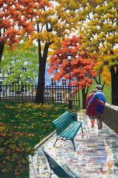 Rémi Clark Seulement nous deux Clark Art, Great Paintings, Natural World, Urban Art, Vintage Prints, Contemporary Artists, Impressionism, Les Oeuvres, Beautiful Pictures