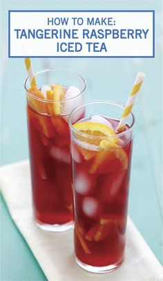 Get ready for summer by trying out this recipe for Tangerine Raspberry Iced Tea! If you're looking for a refreshing drink that is a little tart yet full of delicious sweet fruit flavor, this beverage is sure to do the trick.