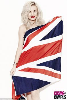 Leigh-Anne Pinnock wraps up in a Union Jack as the Little Mix girls pose nude under flags in a fun new shoot | Mail Online >>> that's Perrie. Not Leigh