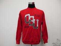 Vtg 90s Jansport Ohio State Buckeyes Crewneck Sweatshirt sz L University OSU Red #Jansport #OhioStateBuckeyes