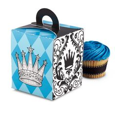 Elegant Prince Damask Cupcake Boxes, 85009 via Birthday Express