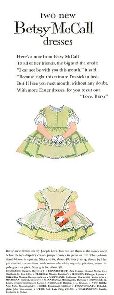 Betsy McCall - Two New Dresses #