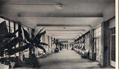 Wandelhalle 30er Jahre Karte abgestempelt 1946